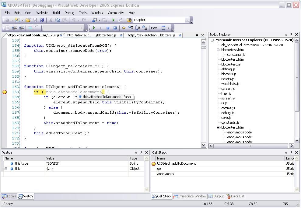 How to debug JavaScript in Internet Explorer – Bernie