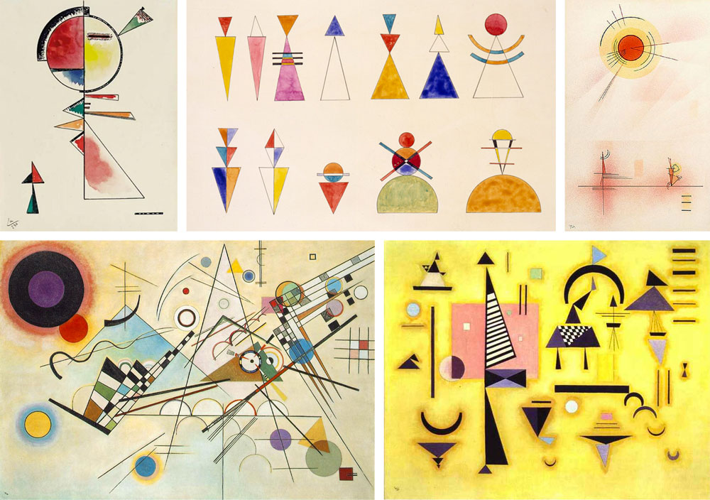 A selection of Kandinsky's works.